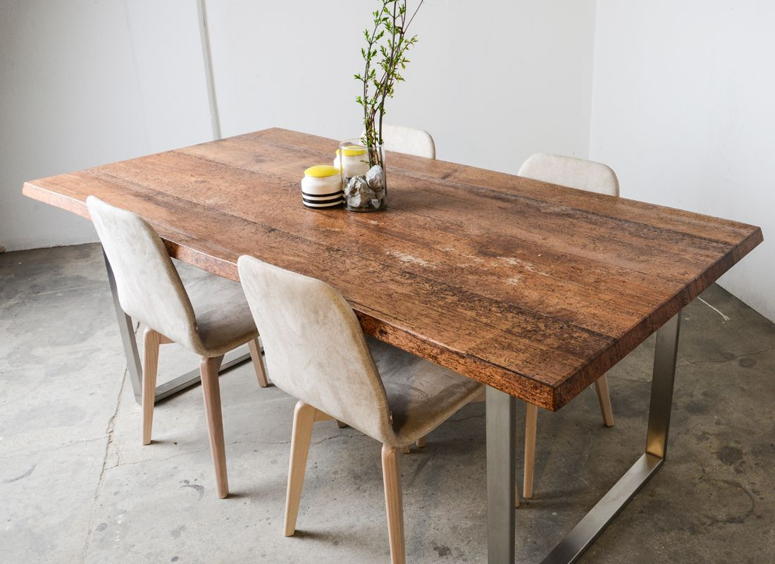 brown shabby chic design table by SUNWOOD | Altholztische / Vintage ...