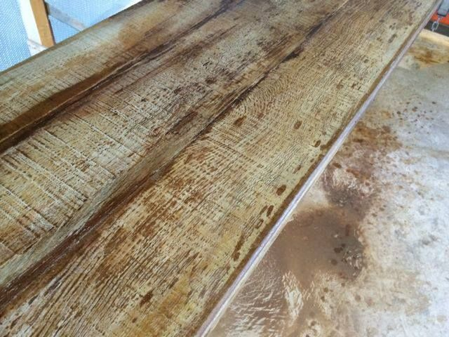 How To Make Faux Wood Concrete Floor Stained Concrete Countertops Concrete Countertops Concrete Wood