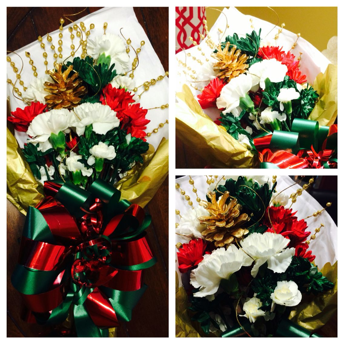 Christmas Flowers, Dance Recital Bouquet, Red, white