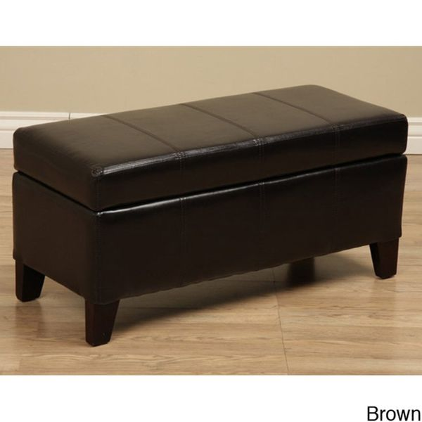 Extra Long Storage Bench Custom Warehouse Tiffany Ariel Faux Leather Storage Bench  Overstock Decorating Inspiration