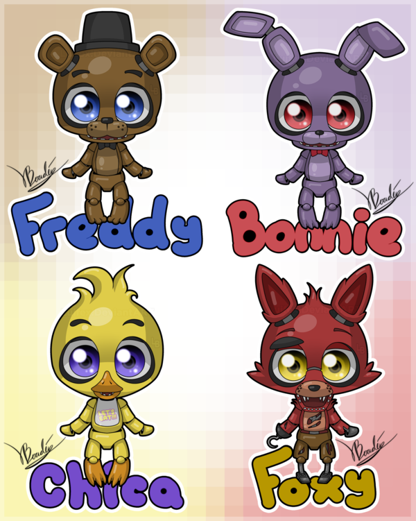 freddy s cartoon nights at five cute 5 nights at freddys by luifex