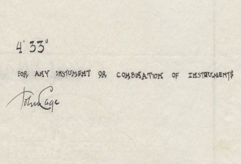 John Cage, 4'33''