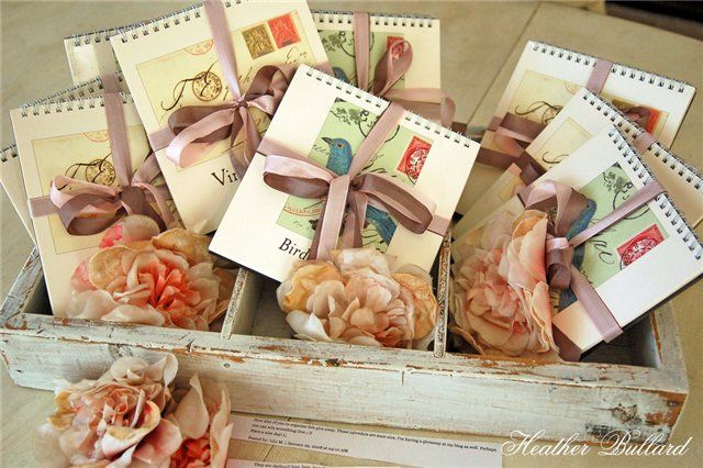 flower and lovely notepad or journal