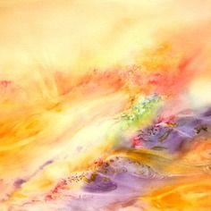 Aquarelle Abstraite Oeuvre Contemporaine Originale Signee