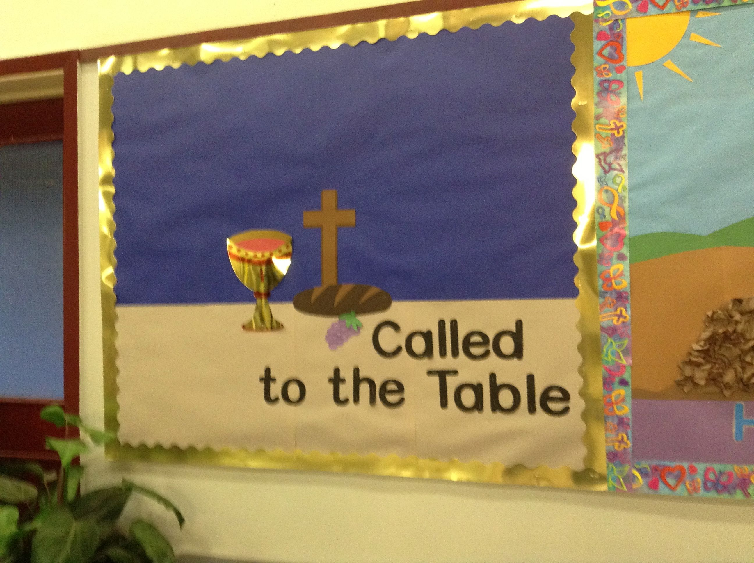 Classroom Group Names Ideas ~ First communion bulletin board after this i wrote the