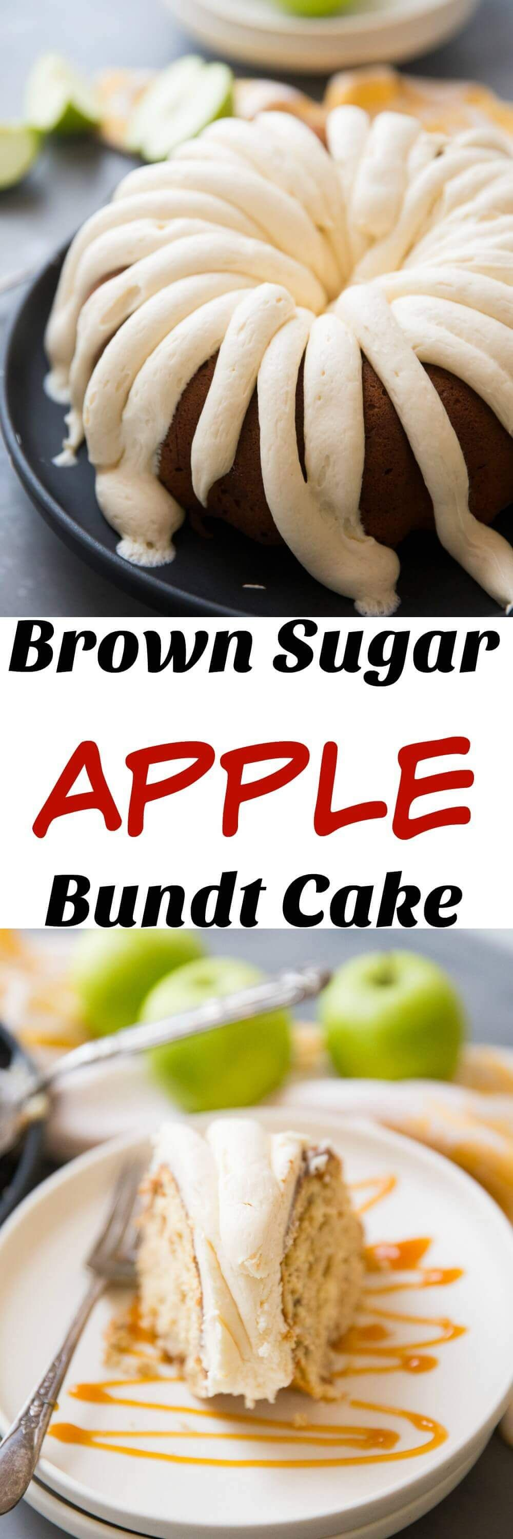 Brown Sugar Apple Bundt Cake