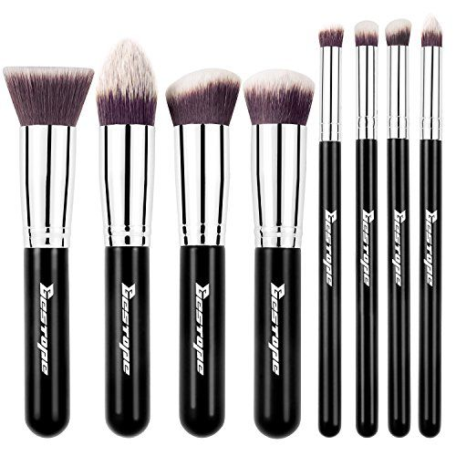 BESTOPE Premium Synthetic Kabuki Makeup Brushes Set Cosmetics Foundation Blending Blush Eyeliner Face Powder Brush Makeup Brushes Kit