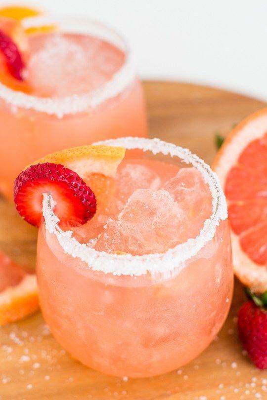 strawberry grapefruit salty dog recipe - sugar & cloth