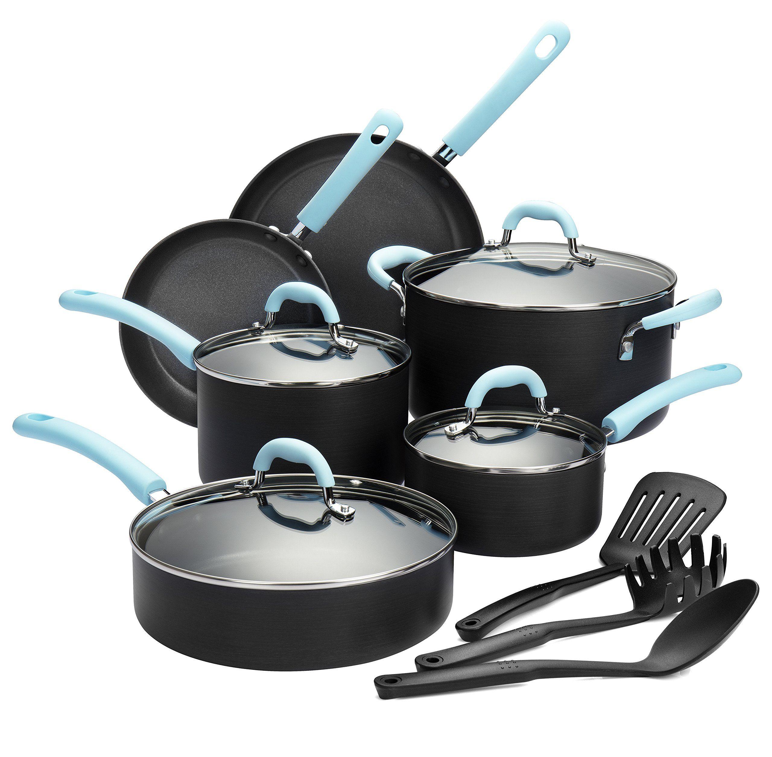 Finnhomy Super Value Hardanodized Aluminum Cookware Set Double