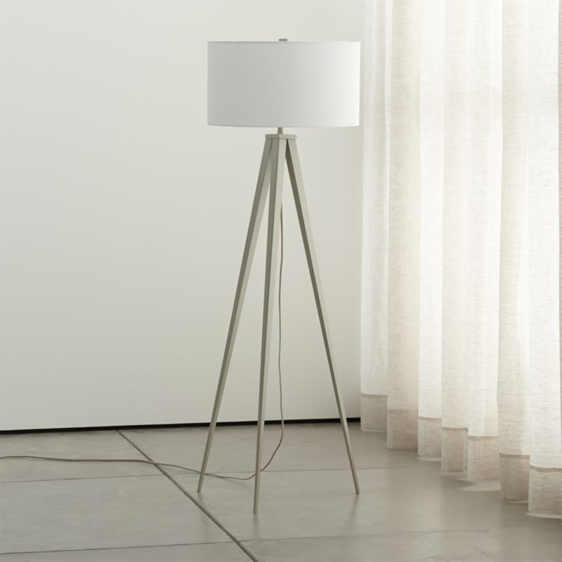 Theo Grey Floor Lamp In 2019 Blue Floor Lamps Arc Floor