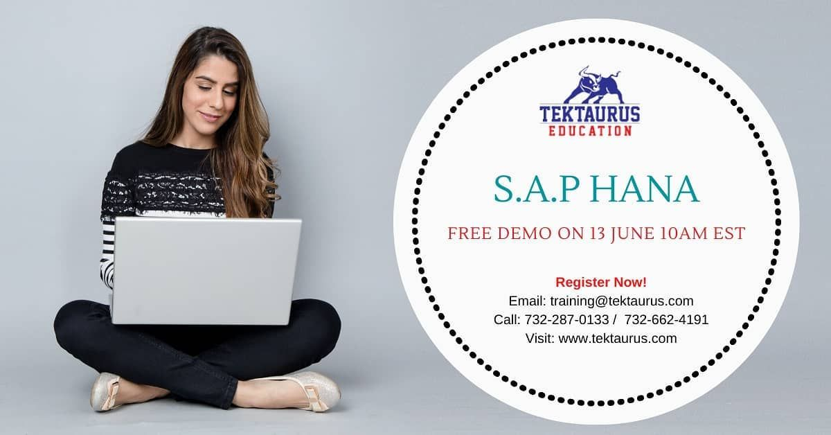 Register for Free Demo on S.A.P Hana on 13 June at 10 AM
