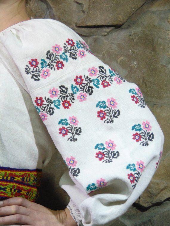 0e51d404e76 Gentle colours embroidery ウクライナ 刺繍 Folk dress Handmade Embroideried vyshyvanka  Antique womens tradit