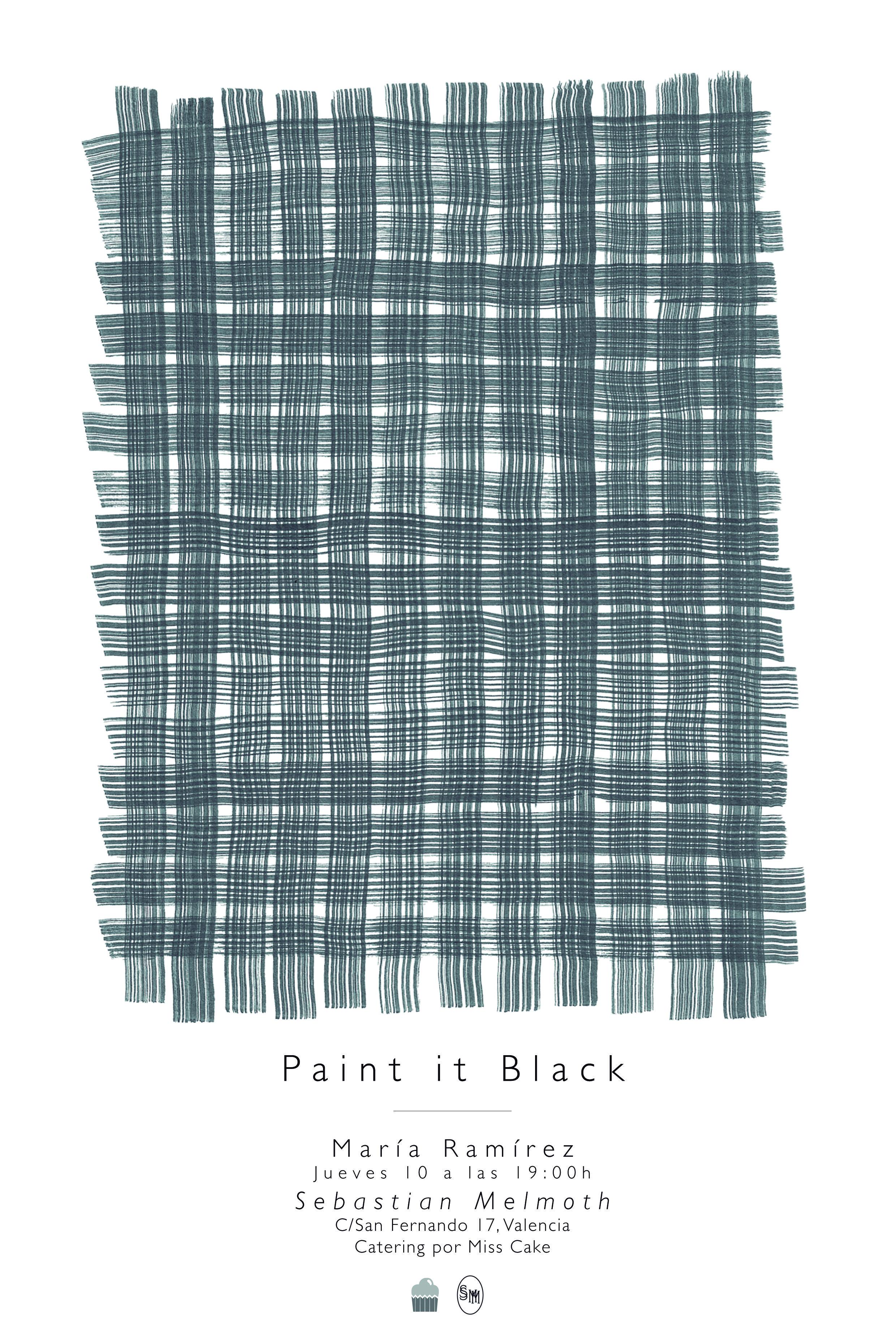 """""""Paint it Black"""" es una colección de dos estampados reproducidos en diferentes tamaños y soportes, el próximo jueves 10 de Julio podréis disfrutar de ella en el espacio Sebastian Melmoth ¡Estáis todos invitados! https://www.facebook.com/sebastianmelmothstore http://www.mariaramirez.net/Paint-it-Black"""
