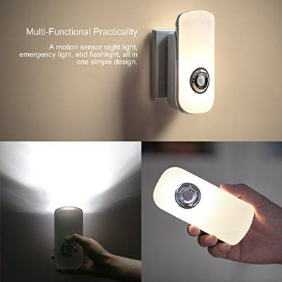Etekcity LED Night Light, Flashlight: Rechargeable Emergency