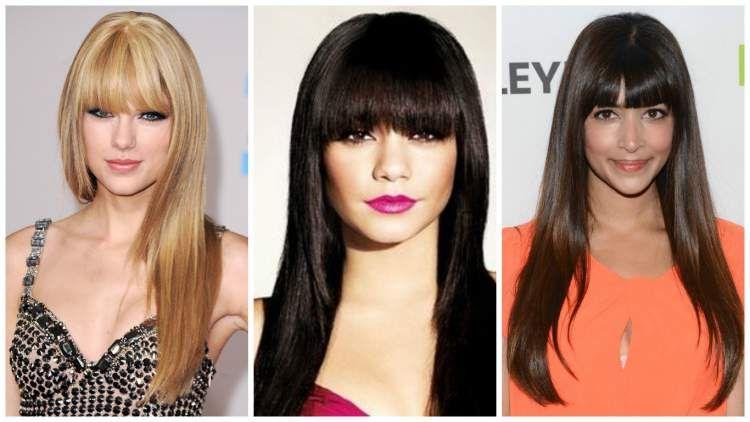 cortes com franjas para cabelos longos