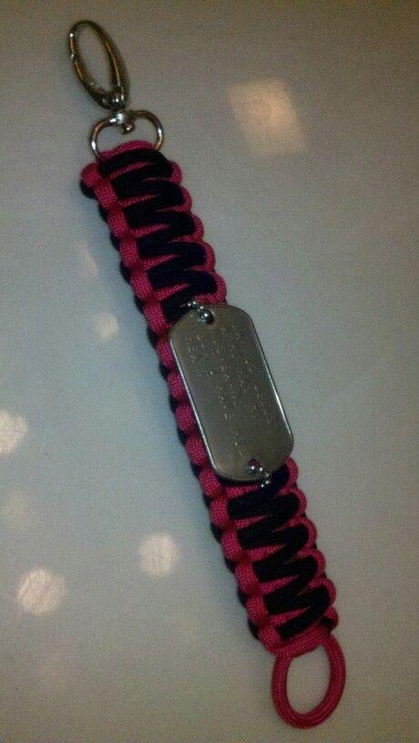 Hot Pink and Black w/ Dog Tag King Cobra