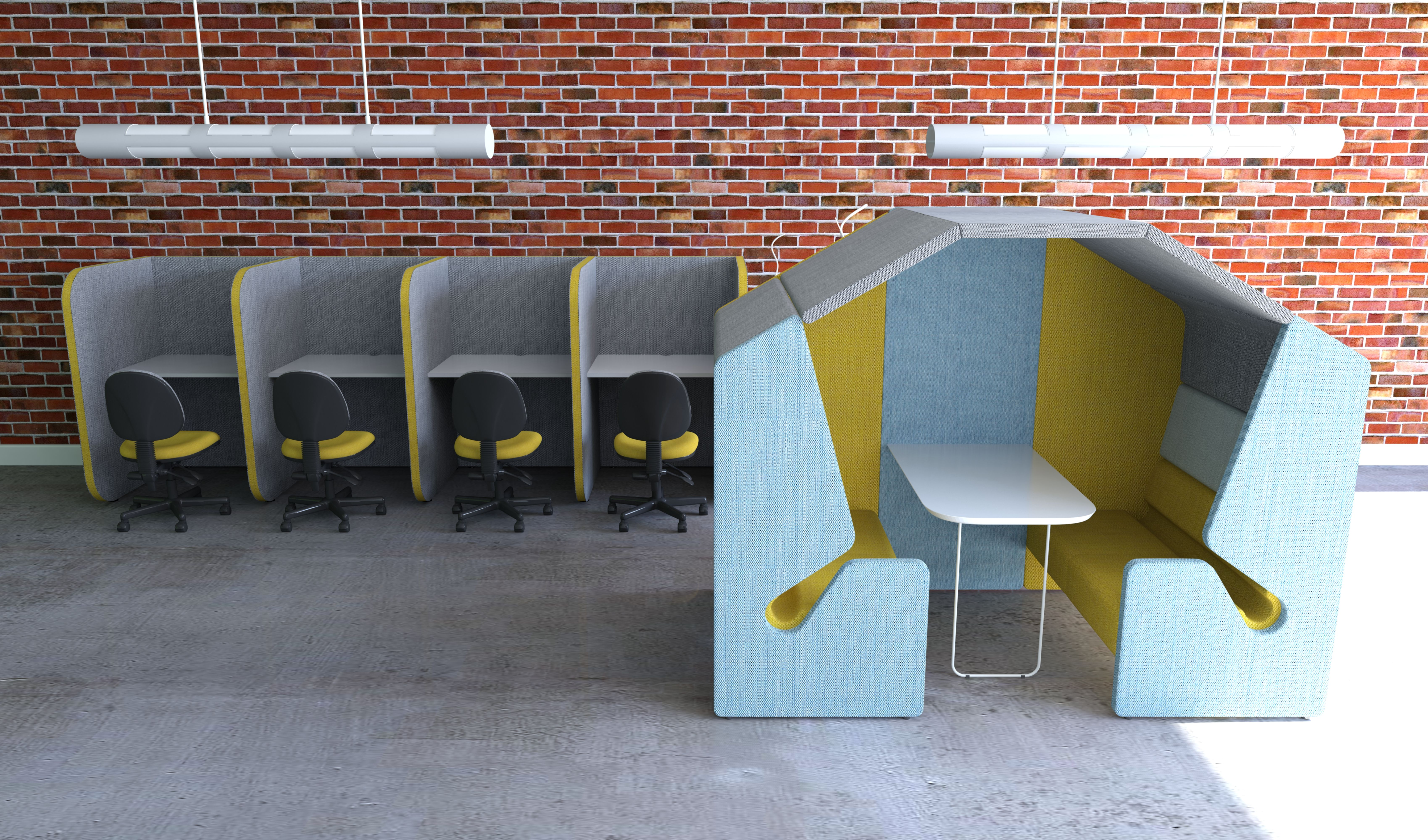 Library Furniture - Booth  Library furniture, Soft seating, Furniture