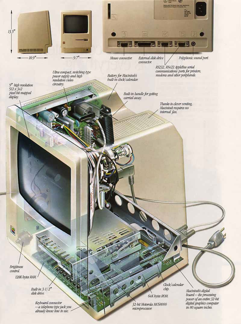 """""""Introducing Macintosh"""" ad insert in Newsweek, 1984. I remember having one of these! We sold it at a garage sale in the late 90's. Should have kept it!"""