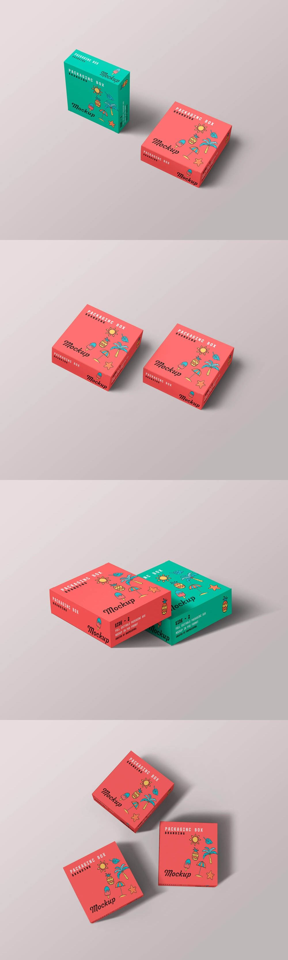 Download Square Packaging Box Mockups Graphicsfuel Box Mockup Packaging Template Box Packaging