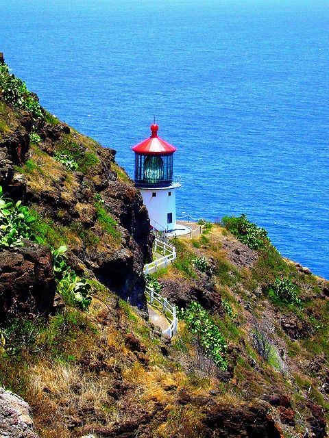 Makapu'u Lighthouse - Oahu, Hawii .