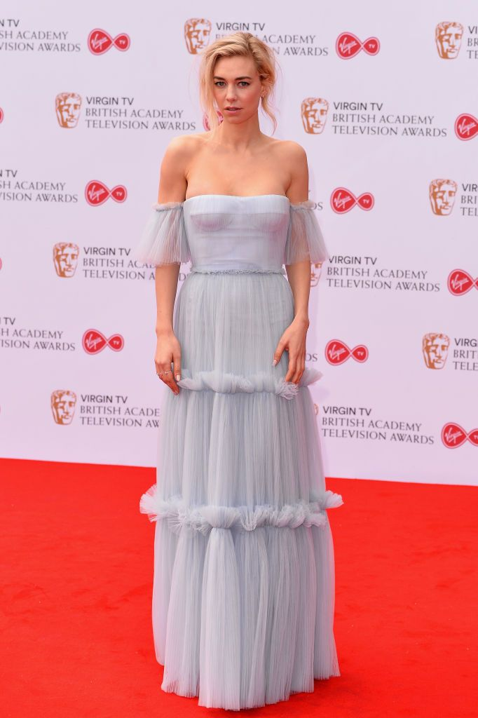 Vanessa Kirby Wearing Burberry At The Bafta Tv Awards In London Fashion Celebrity Red Carpet Celebrity Dresses
