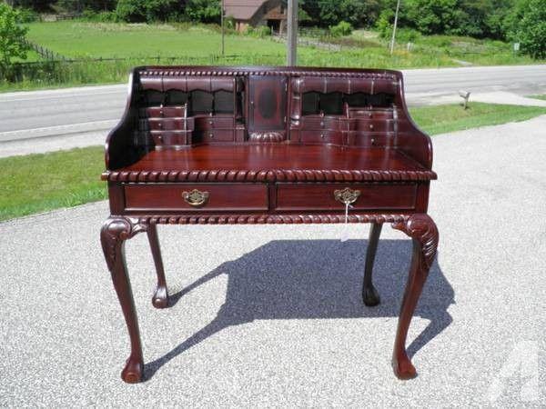 Antique Mahogany Chippendale Escritoire ... Writing DeskWest ... - Antique Mahogany Chippendale Escritoire Desks & Tables