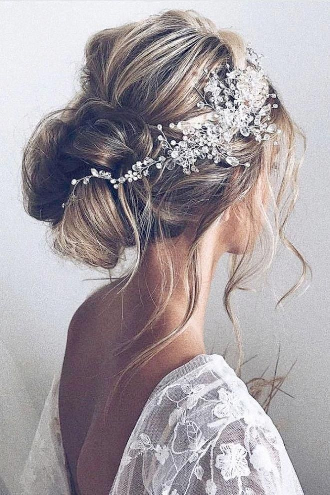 Wedding Hairstyles For Medium Hair Half Up Half Down Repin Weddinghairstyles With Images Morsiamen Kampaukset