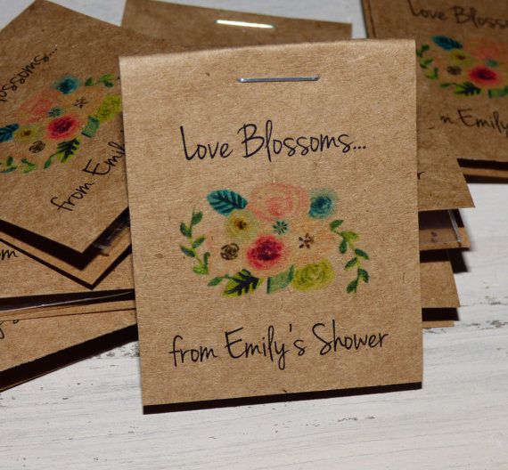 30 Personalized Mini Fl Bridal Shower Flower Seed Packet Favors Sow In Love Wildflower Seeds Wedding Rehearsal Dinner Thank You