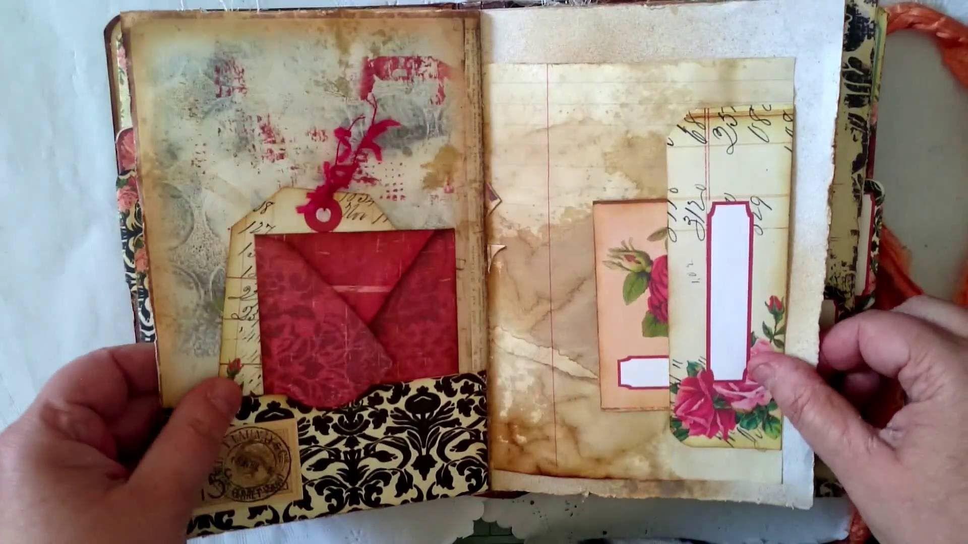 Mapels Diary From Ephemera Vintage Garden Printable Journal Vintage Ephemera Journal Printables Mini Albums