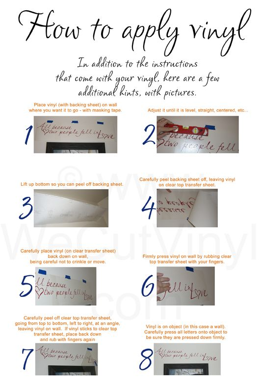 HOW to apply vinyl with pics | Silho - Ideas | Pinterest ...