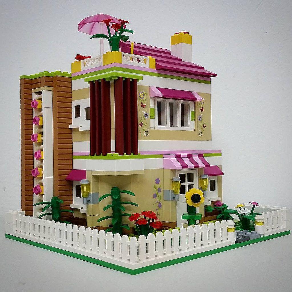 Olivia S Modern House Lego Legofriends Legodisney Bulat Bulatlego Legostagram Brickcentral Bruneibricks Cool Lego Creations Lego Projects Lego House
