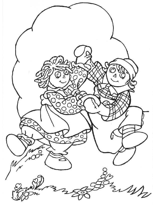 nice selection of Raggedy Ann coloring pages (34 pgs.) | Coloring ...