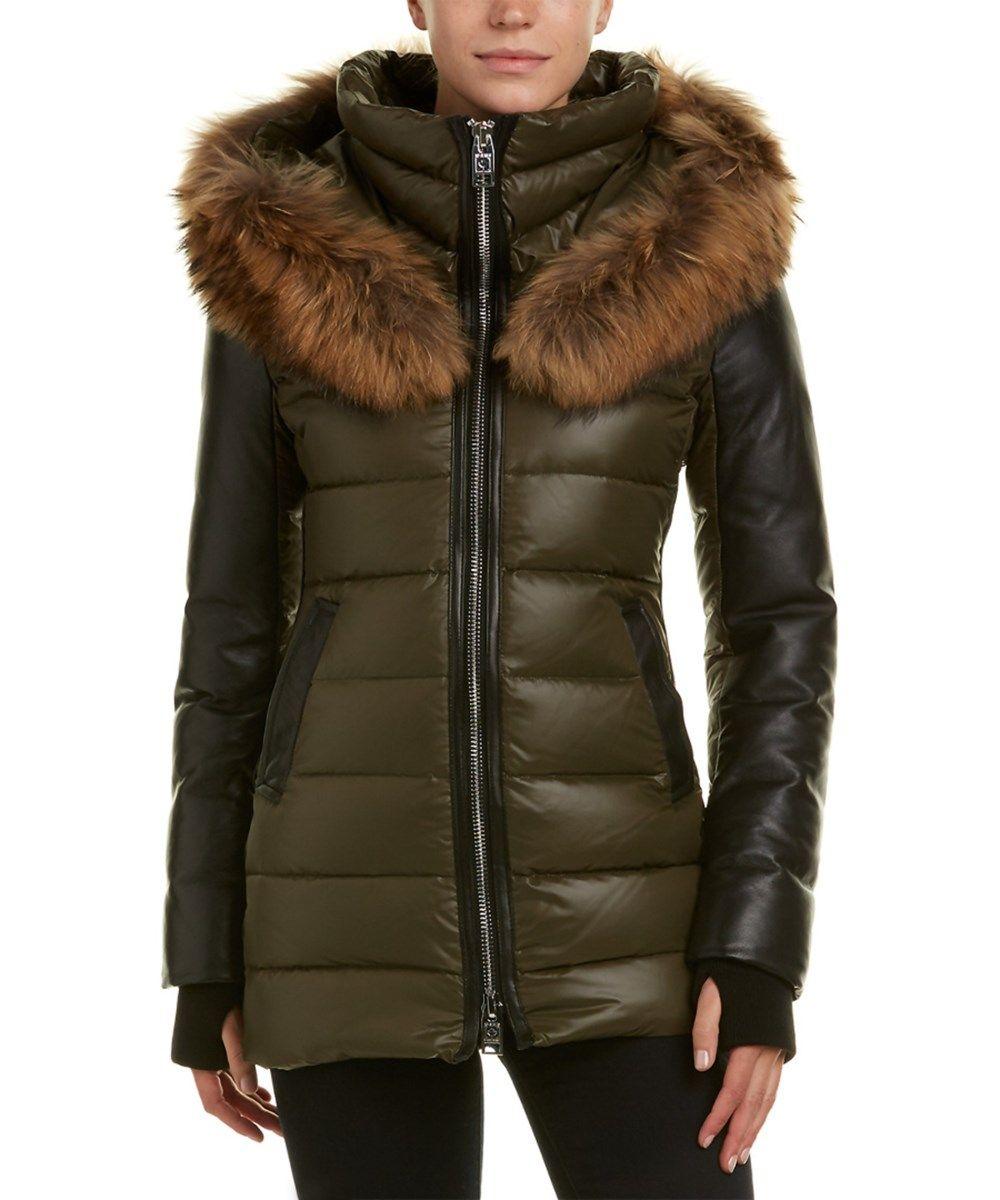 Nicole Benisti Down Coat In Multi Modesens Down Coat Leather Jacket Outfits Coat [ 1200 x 1000 Pixel ]