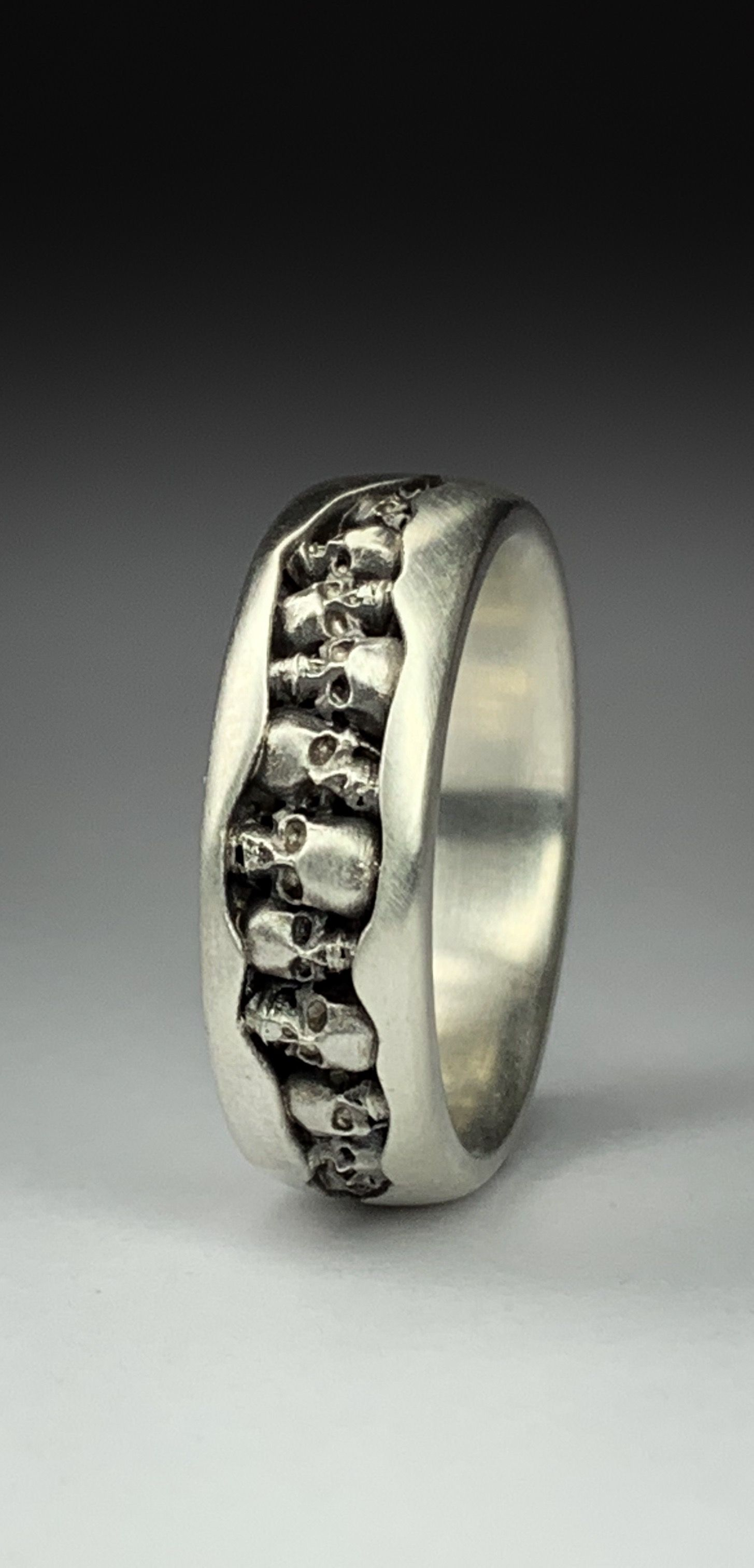 Bespoke skull ring made by Timothy Roe Jewellery