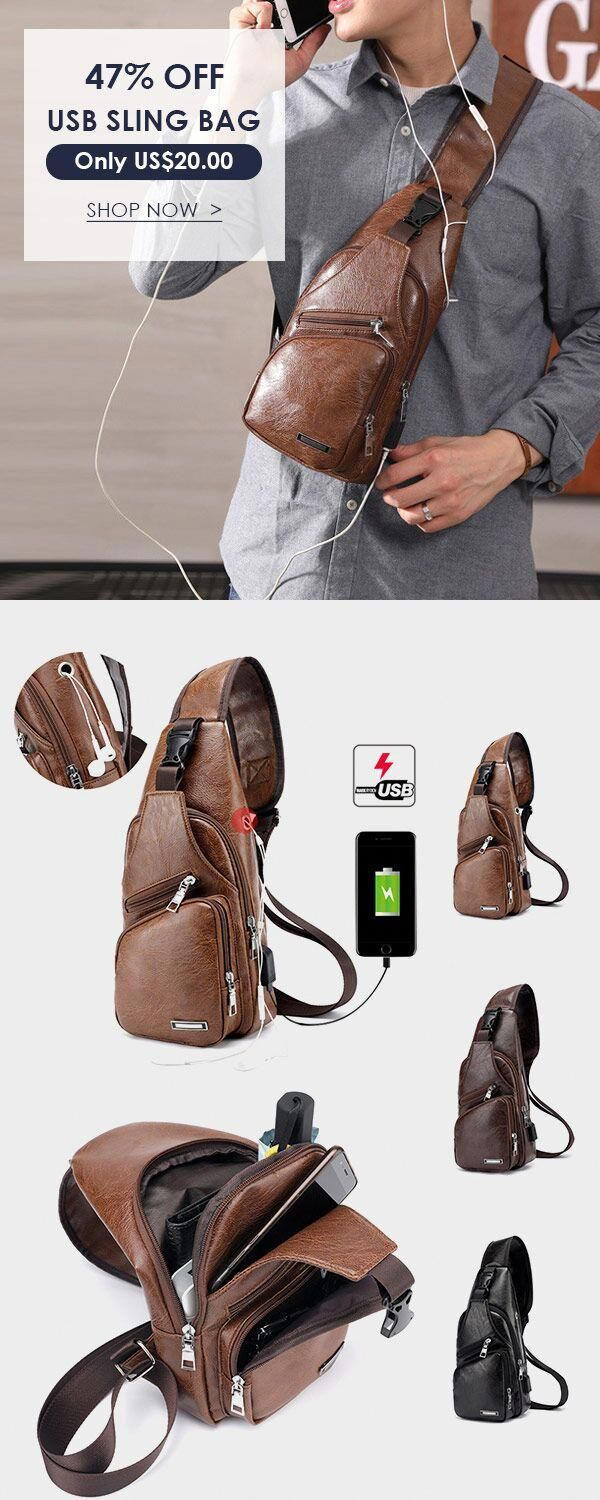 us 20 20 outdoor shoulder usb charging port chest bag on cheap insulated coveralls for men id=18707