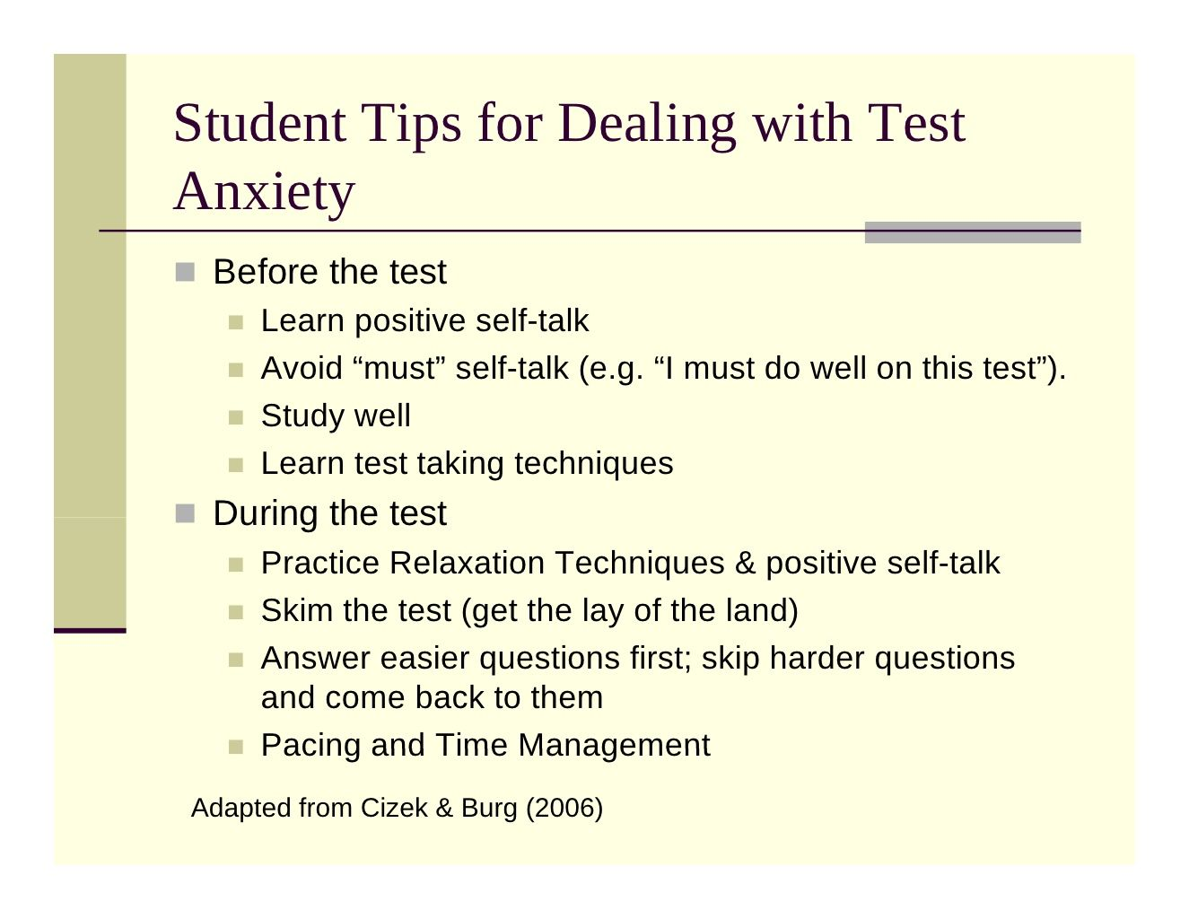 Test Anxiety | Test taking tips | Pinterest | Test anxiety