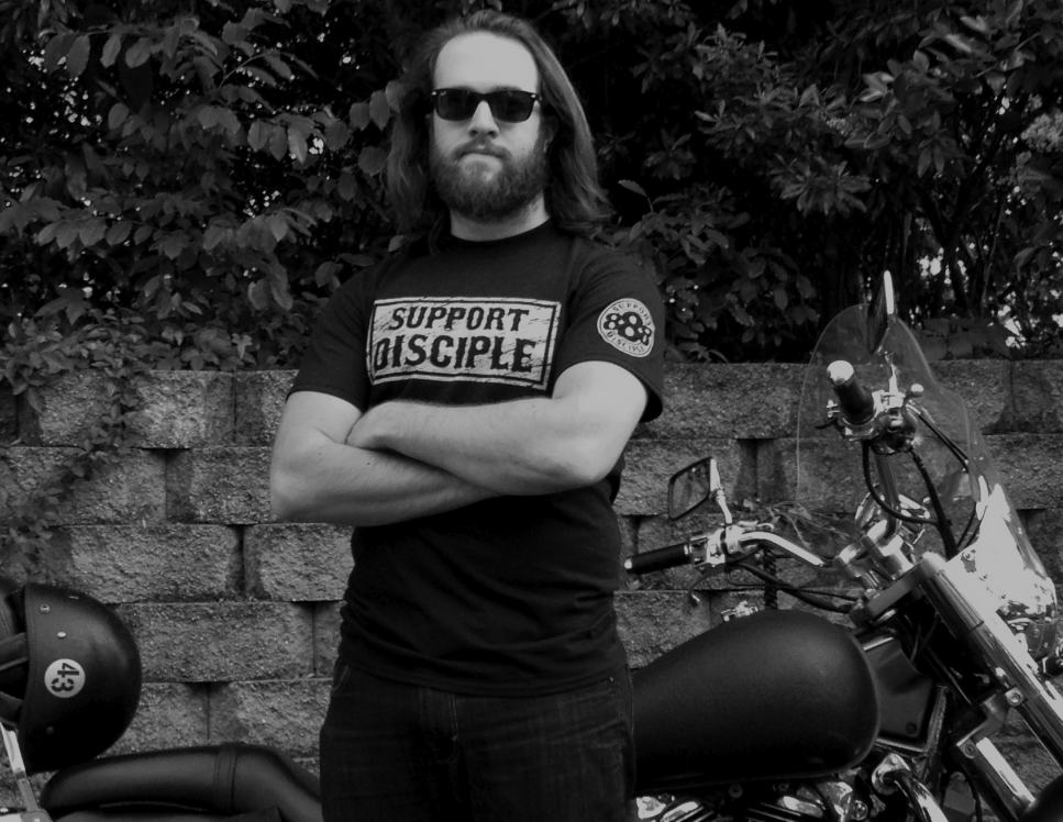 Another of our latest and greatest SUPPORT DISCIPLE Shirts!  These Gildan Tees are sure to turn heads and start conversations.  Get them while you can!  Thanks for supporting Disciple Christian Motorcycle Club!  What Does 888 Stand for?  Find the answer here: http://www.biblewheel.com/GR/GR_888...