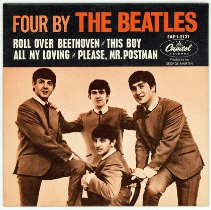 The Beatles Four By The Beatles Ep West Coast Usa 1964 The Beatles Beatles Albums Beatles Records