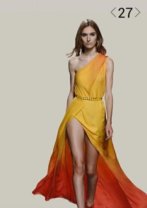 Dress graduation yellow elie saab spring
