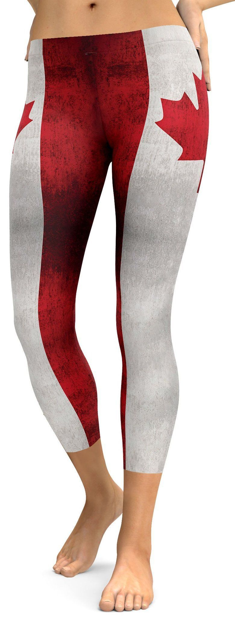Grunge Canadian Flag Capris #grungeoutfits To expand our flag collection we added the Canadian Flag. The Grunge look gives these Grunge Canadian Flag Capris that extra spunk. Labor day is coming up, so get your outfit together with these capris. Dress up with a white blouse and white heels or with some boots, whatever you do wear them with pride.