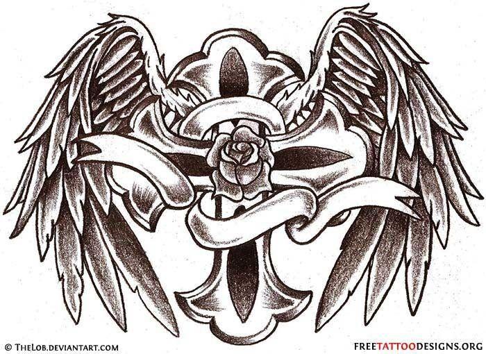 Cross Wings Ribbon Socool Talent