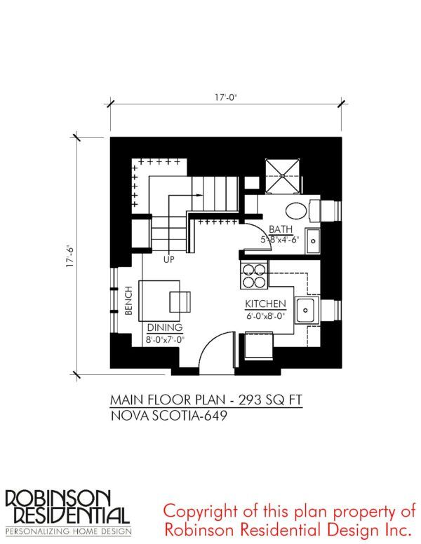 The Nova Scotia: Small Home Plans | Tiny House | Pinterest | Home ...