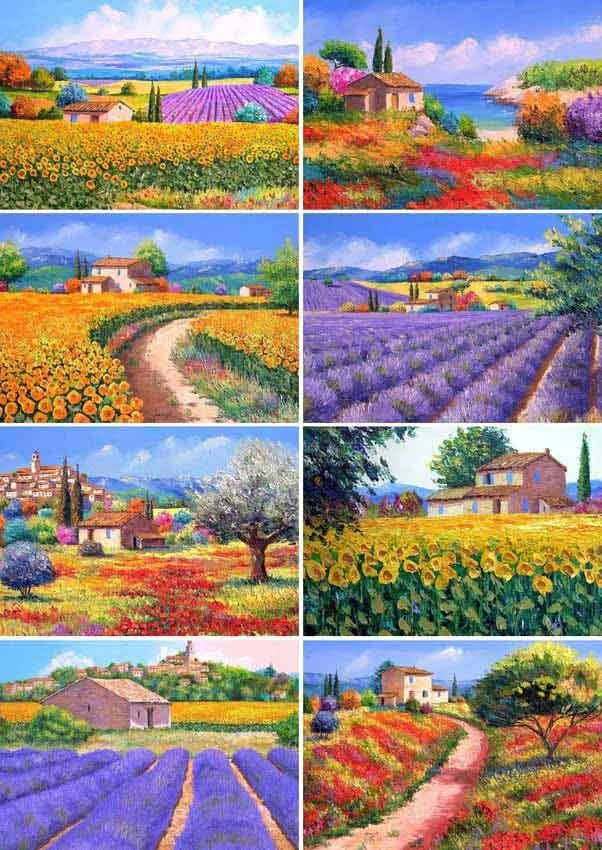 [Free Shipping]Jean Marc Janiaczyk, Landscape Painter 1#, 8PCS Postcards Wholesale & Retail(China (Mainland))