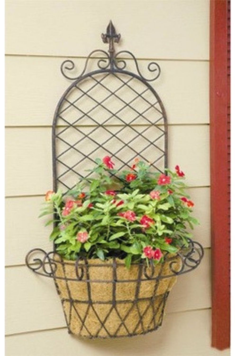 Creative Trellis Ideas To Add Beauty To Your Garden Wall Planter Baskets On Wall Metal Wall Planters