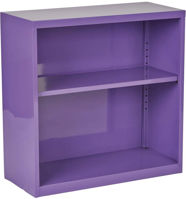 Osp Designs 28 In Steel Bookcase Metal Bookcase Purple