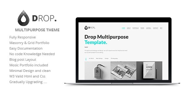 Themeforest  Cubic  One Page Responsive Html Template Free