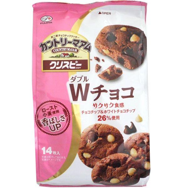 Fujiya Country Ma'am Crispy Double Chocolate Chip Cookies (W Choko) 126g, 14 cookies