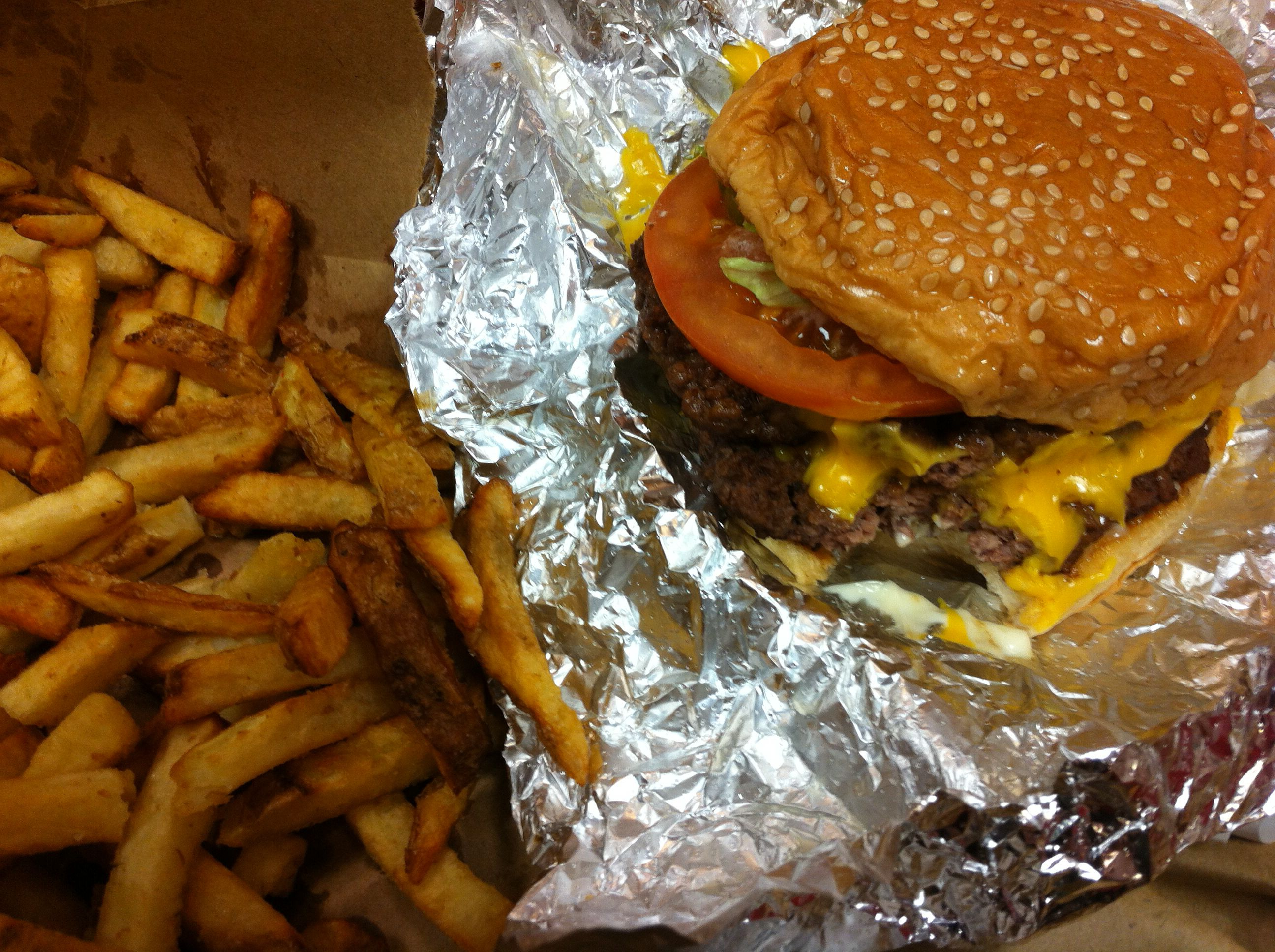 Five Guys Burger and Fries oh yeah!