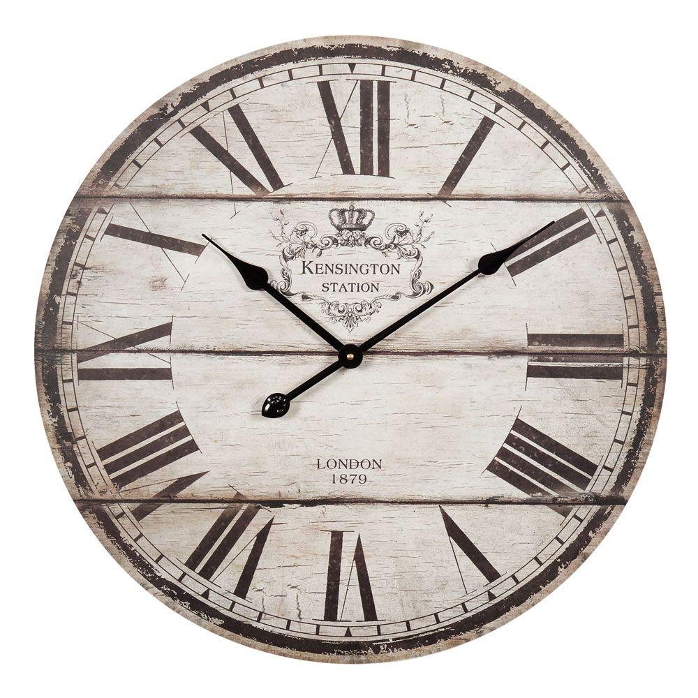 horloge en bois beige d 60 cm trianon tradition