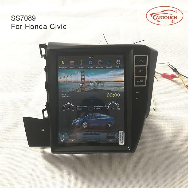 Tesla Vertical Screen Indash Auto Navigation Multimedia Stereo